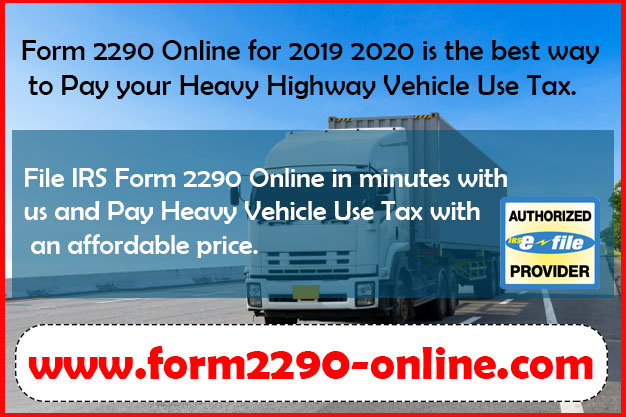 Form 2290 Online for 2019 2020