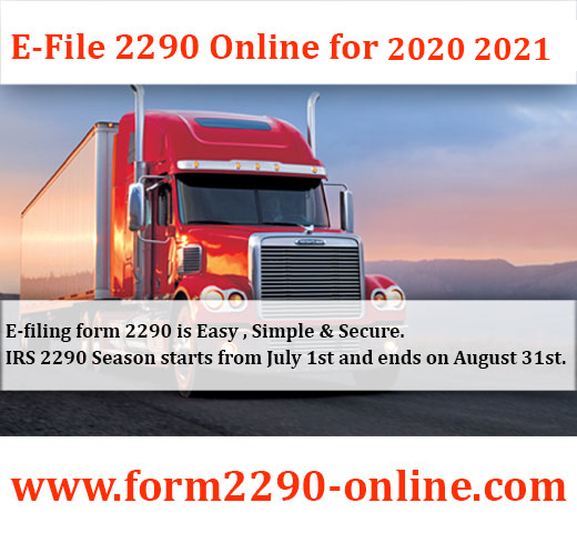 File IRS Form 2290 Online for 2019 2020 Now