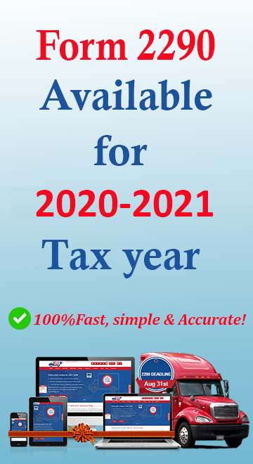 irs form 2290 for 2020 2021